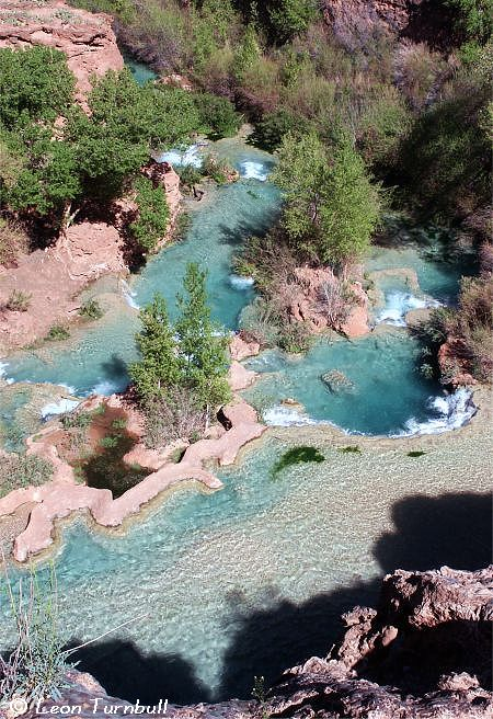 Image 3 of 6<br />Havasu Creek from top of Havasu Falls