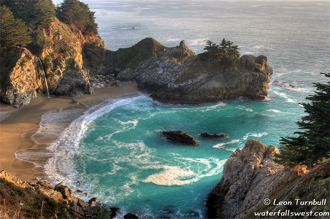 Image 2 of 4<br />McWay Falls at sunset