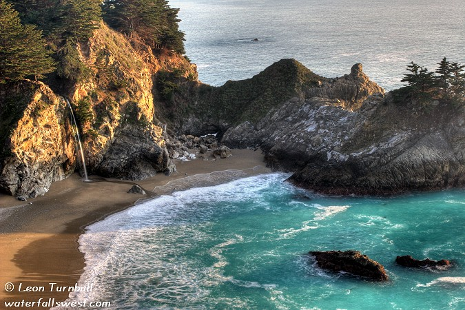 Image 3 of 4<br />McWay Falls at sunset