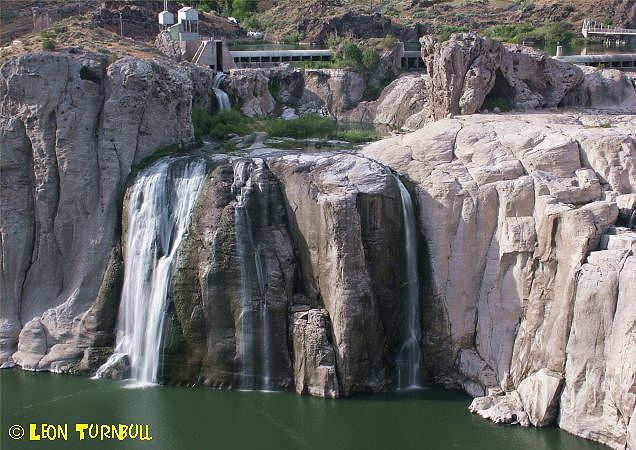Image 1 of 1<br />Shoshone Falls at low flow